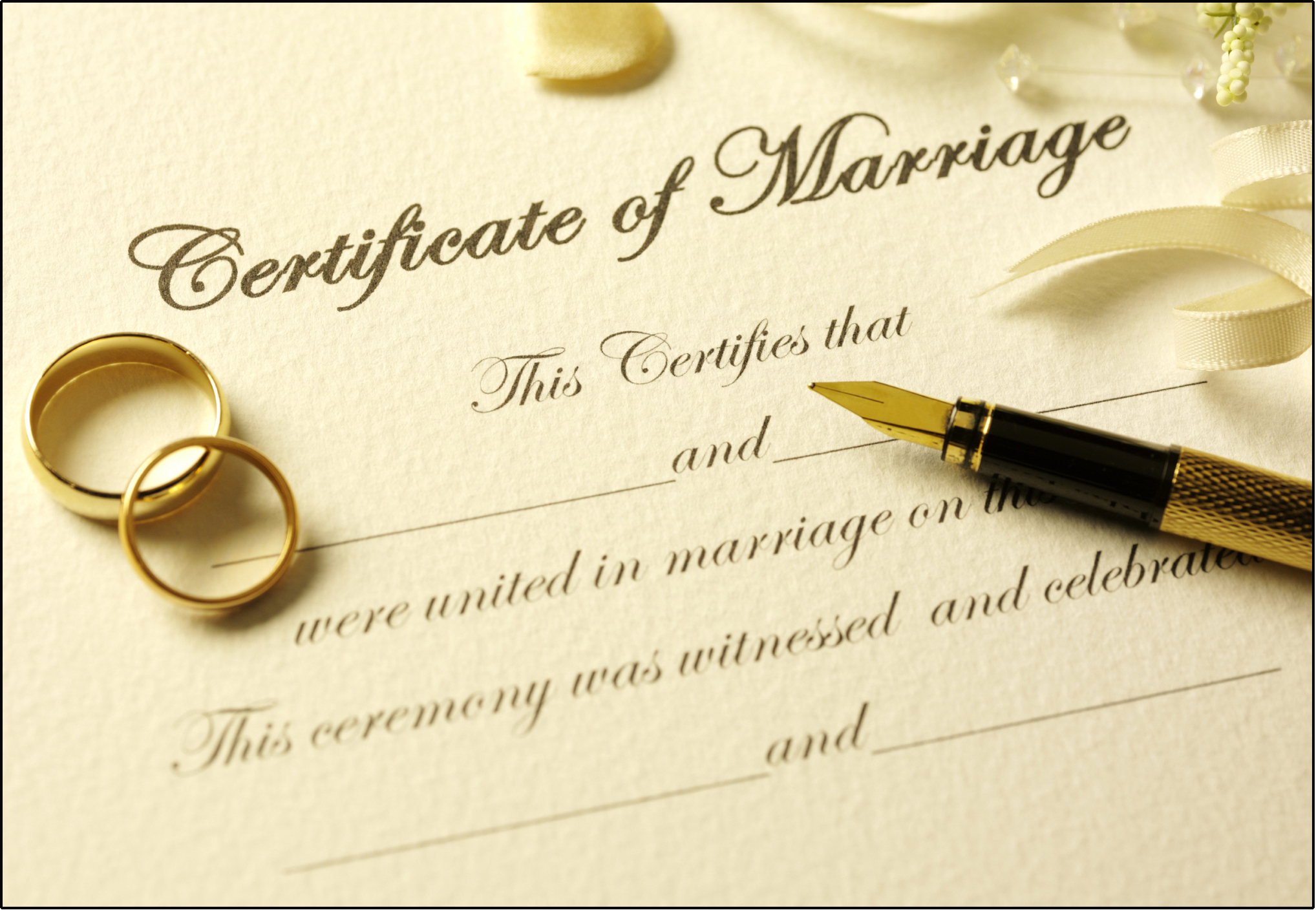 MarriageCivil Union – Marriage Certificate